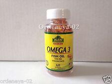 Omega XL 3 1000 Mg 60 Softgels Fish Oil Epa Dha Essential Acids OmegaXL Alga Cel