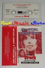 MC JONI MITCHELL JAMES TAYLOR live London 70 DIZIONARIO ROCK PROMO no cd lp dvd