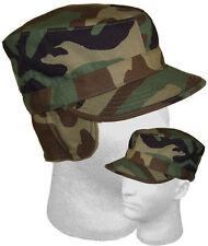 CAP ARMY RANGER Camouflage Fatigue Patrol Hat HIDDEN EAR FLAP Size XL 7 3/4