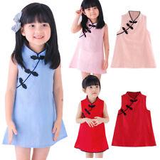 Toddler Baby Girl Pretty Princess Dress Party Wedding Sleeveless Cheongsam CA