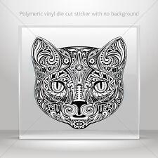 Stickers Sticker Floral Domestic Cat Head Atv Bike Garage bike st5 X3KR9
