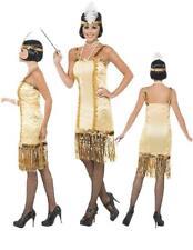 Costume Carnevale Donna Charleston Oro Anni 20, 30 Ballo smiffys *16232