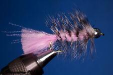 Fliegentom Streamer 3 pieces Wooleybugger with Beadhead pink