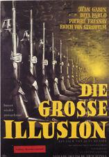 La grande illusion Jean Gabin vintage movie poster 12