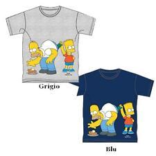 T-shirt Bimbo Simpson Bart & Homer Maglietta Bambino *12955