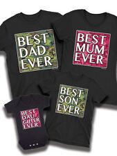MEILLEUR PAPA jamais Camo assortie T-shirt Père Mère Fils Fille Famille Bébé