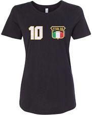 Threadrock Women's Team Italia Soccer T-shirt Italy Italian Flag