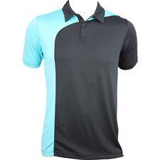 Carrello trasversale Fancy Golf Polo Shirt Nera + Turchese PANNELLO Fancy Dri-Fit M, L, XL