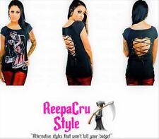B62 Smokin Hot Kiss Me Deadly Skull Dance Skeleton love Punk Rock Fashion Shirt