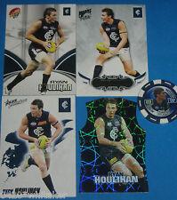 AFL Select 2010,09,07 CARLTON Ryan Houlihan cards x 4 + bonus Topps chip