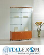 Glasvitrine mit Schubladen und Schrank H180x182x64 cm Theca Ladenmöbel Italfrom