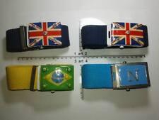 CINTURA cotone 4 CM FIBBIA londra napoli brasile  artigianale vintage BELT ME1