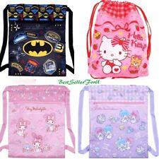 DC Comics/Sanrio Drawstring Backpack Gym Sport Casual Bag Purse Daypack Satchel