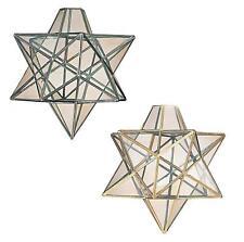 Lámpara de techo de cristal estrella Vega Luz de Techo Montaje Lámpara De Latón O Cromo