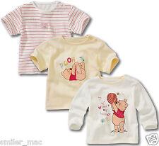 Winnie the Pooh Set of 3 Disney Tshirts Unisex white cream striped