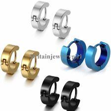 2-8PCS Stainless Steel Polished Hoop Huggie Earrings for Men Women Ear Piercing