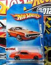 Hot Wheels 2008 #060 Plymouth® GTX ORANGE,CHROME RIMS,BLACK OH5SP,'09 CARD,A38