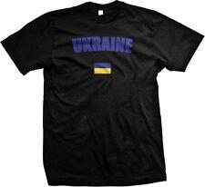 Ukraine Kiev Country Flag Pride Heritage Ancestry Europe Mens T-shirt