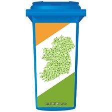 MAP OF IRELAND WHEELIE BIN STICKER PANEL