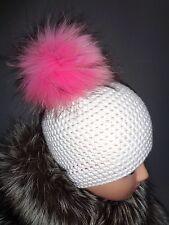 XXL Pelzbommel  Neu Taschenanhänger Silberfuchs  traumhaftschön  Luxus rosa