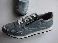 NEU BRUNO BANANI  Sneaker mit Herz used Look petrolblau - silber Gr. 39 - 42
