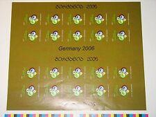 GEORGIA GEORGIEN 2005 ZD 486 B MS 369 imperf Soccer CS Fußball WM 2006 MNH RAR