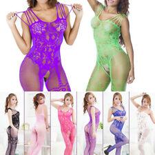 Women Adult Fishnet Body Stockings Sleepwear Bodysuit Lingerie Babydoll New
