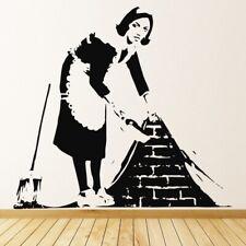 Femme de ménage Banksy Sticker Muraux WS-32496
