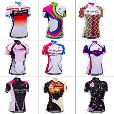 Atmungsaktiv Damen Radfahren Radtrikot Fahrradtrikot Kurzarm Cycling Jersey S-XL