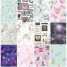 Bambine carta da parati a tema camera da letto Unicorno Stelle Cuore Glitter Chic Caratteristica Muro Nuovo