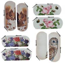 1 Brillenetui, Tiere / Blumen, Brillen, 17 x 7,5 cm, Neopren/ Plüsch, neu