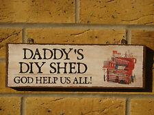 Segno Personalizzata Papà Capanno segno in legno Buffa firmare segno Giardino Garage Officina