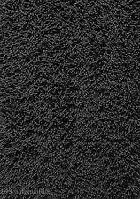 "3x5  Area Rug  Shaggy Fluffy SHAG Carpet Solid  Black 1"" Thick  3'3""x4'10""  New"