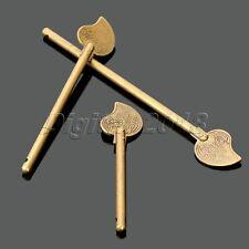Retro Brass Chinese Leaf Cabinet Latch Lock Copper Cabinet Hardware Door KeyBolt