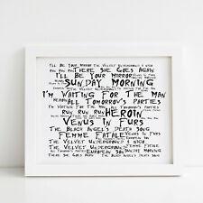The Velvet Underground Poster, Self-titled Album, Framed Original Art Print
