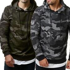 Mens Camouflage Sweatshirts Slim Fleeces Hooded Hoodie Casual