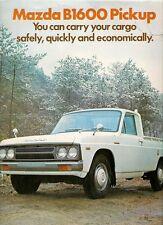 Mazda B1600 Pick-Up 1975-76 UK Market Foldout Sales Brochure