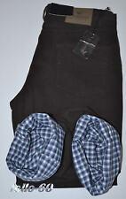 Pantalone uomo cotone caldo termico foderato tg. 46 48 50 52 54 56 58 60 marrone
