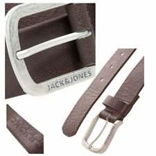 Jack & Jones Mens JACHarry Buckle Casual Faux Leather Trousers Jean Belt BNWT