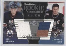2002 Upper Deck Rookie Update 158a Ales Hemsky Jaromir Jagr Edmonton Oilers Card