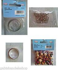 Schmuckdraht  Quetschperlen silber gross Schmuckring Rundperlen Mix5