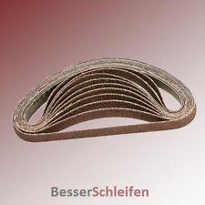 10 Schleifbänder Schleifband Gewebe 30x533 mm Körnung P60 für Makita, Metabo u.a
