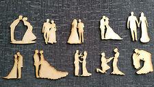 In legno MDF Matrimonio Figure Abbellimenti Craft schede Tabella Decorazioni,