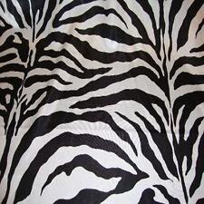 "10 YARDS 60"" BLACK WHITE FLOCKING ZEBRA TAFFETA FABRIC"