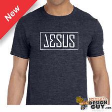 Jesus name Christian T-Shirt Gift Tee Adult Men Christ Bible Verse Religious NEW