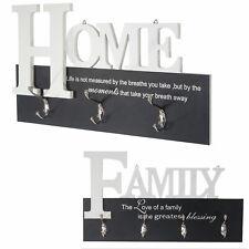 Wandgarderobe Home/Family, Garderobenleiste Garderobe, mit 6/8 Haken 28x50cm