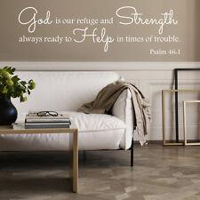 Vinilo Pared Arte Biblia citar psalm46; 1 Moderno calcomanía Hogar Dormitorio pegatina decoratio