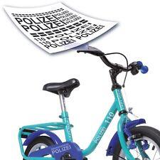 Polizei Police Fahrradaufkleber Set Fahrrad Sticker *KIDS* Polizeifahrrad