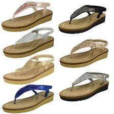 Savannah Mid Wedge Ladies Toepost Sandals