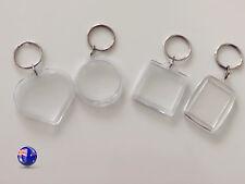 2x Small Plastic Photo Frame Name Tag Key Ring Key chain Holder Novelty Gift
